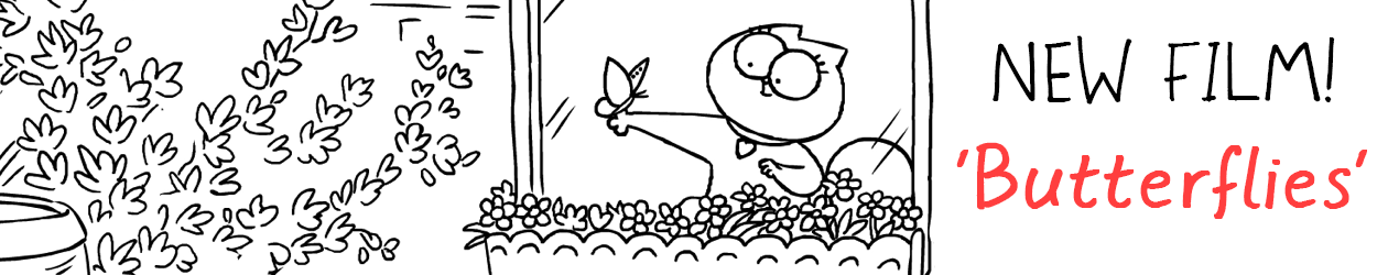Simon's Cat in 'Butterflies'