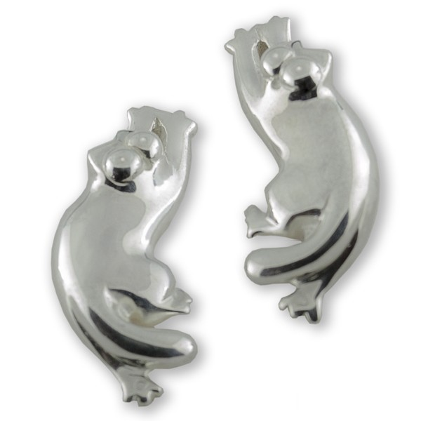 Simon's Cat Silver Earrings