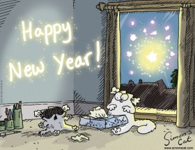 Simon's Cat Happy New Year!