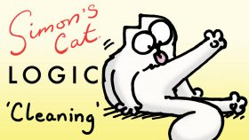 Simon's Cat Logic Cleaning